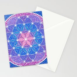 Starry Flower of Life Stationery Cards