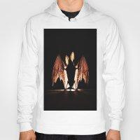 bat Hoodies featuring bat by new art