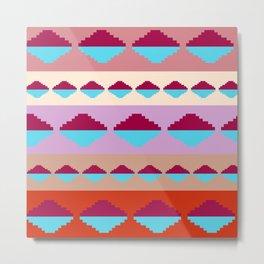 Tribal Pyramid Refection Metal Print
