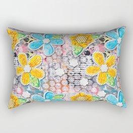 Paper Flower Power Rectangular Pillow