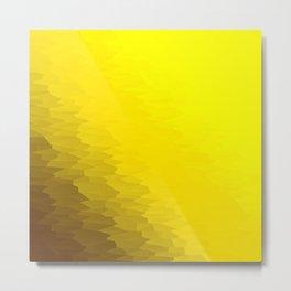 Illuminating Yellow Texture Ombre Metal Print
