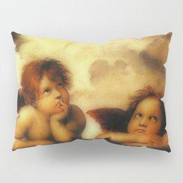 """Raffaello Sanzio da Urbino """"Sistine Madonna"""", 1513-1514 - angels (1) Pillow Sham"""