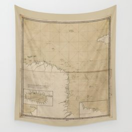 Map of the Mosquito Shore (Mosquitia, Nicaragua) 1781 Wall Tapestry