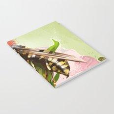 Wasp on flower 6 Notebook