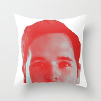 chad wys Throw Pillows featuring Chad Head by Blake Makes Tees
