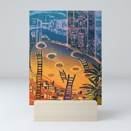 Time through Time, from Caves to Skyscraper, from Organic to Geometric Mini Art Print