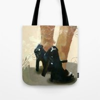 heels Tote Bags featuring Heels by Tom Britton