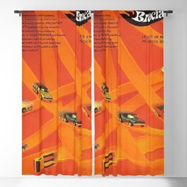1969 Hot Wheels Italian Dealers Redline Poster with Redline Custom Camaros Blackout Curtain