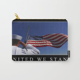 United We Stand: Inspirational Quote and Motivational Poster Carry-All Pouch