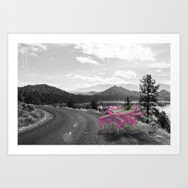 Unseen Monsters of Mount Shasta - Telitoptoo Lou Art Print