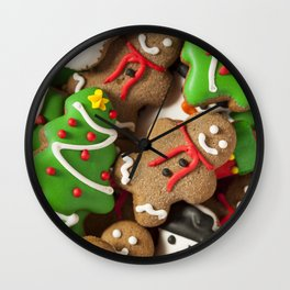 Delicious Christmas Cookies Wall Clock