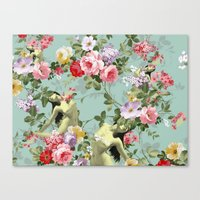 flora Canvas Prints featuring Flora by mentalembellisher