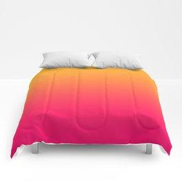 Hot Pink / Golden Heart Gradient Colors Comforters