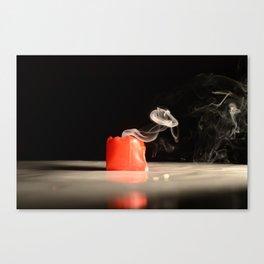 Smokin Candle Canvas Print