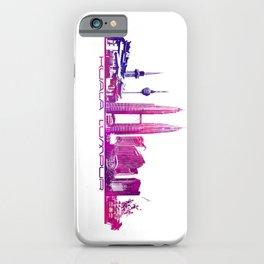 Kuala Lumpur skyline purple iPhone Case