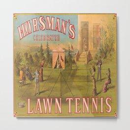 Vintage Lawn Tennis Poster Metal Print