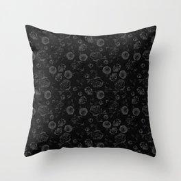 Crystalised Roses, Dark Floral Fantasy Throw Pillow