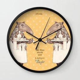 Tea time starts now - Malayan Tapir - Yellow Wall Clock