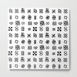 Adinkra Symbols Of West Africa Metal Print