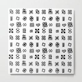 Adinkra Symbols Of West Africa Metal Print