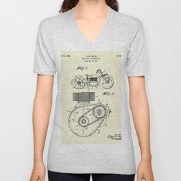 Shaft Drive for Motorcycles-1943 Unisex V-Neck
