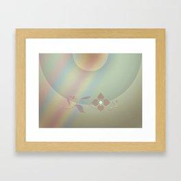 Copper blossom Framed Art Print