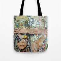 ice cream Tote Bags featuring Ice Cream by Katy Hirschfeld