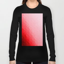 Red Texture Ombre Long Sleeve T-shirt