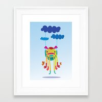 monster Framed Art Prints featuring Monster by Maria Jose Da Luz