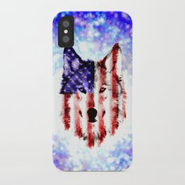 wolf USA iPhone Case