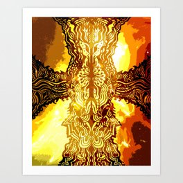 Heavenly Cross Art Print