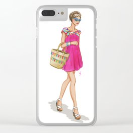 Celia Clear iPhone Case