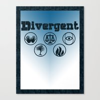 divergent Canvas Prints featuring Divergent by green.lime