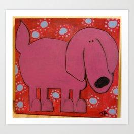 Purple Dawg Art Print