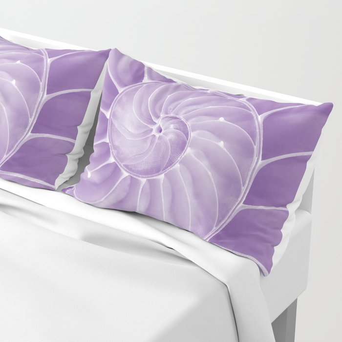 Ultra Violet Chambered Nautilus Pillow Sham
