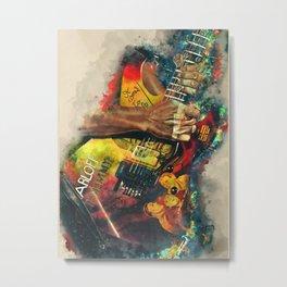 Kirk Hammett's Mummy Guitar Metal Print