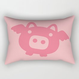 Pink Flying Pig Rectangular Pillow