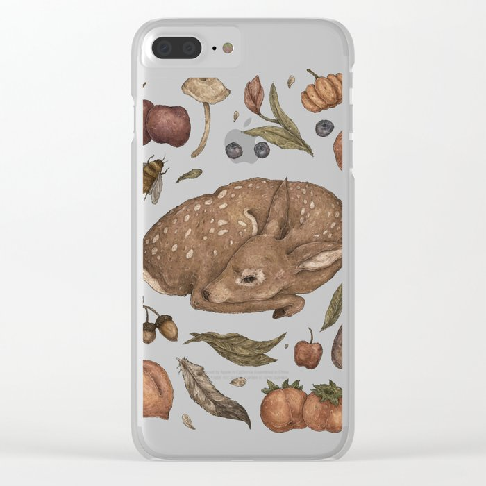 Foraging Fawn Clear iPhone Case