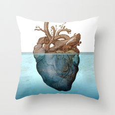 Anatomy of loneliness Throw Pillow