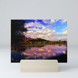 Salt River in Fall 5185 Mini Art Print
