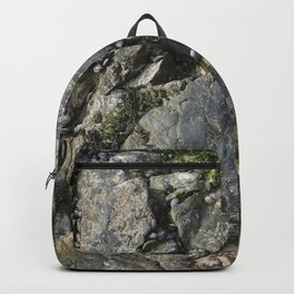 Beach Rock Pool with Seaweed and Barnacles Backpack