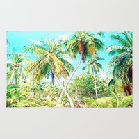 cuba Area & Throw Rugs featuring Cuba , Palmeras ( Cuba palms ) by arnedayan