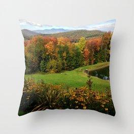 Warren Vermont Foliage Throw Pillow
