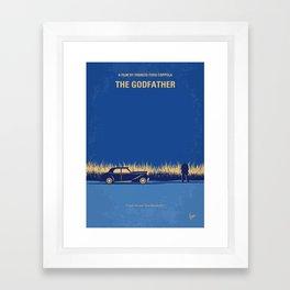 No686-1 My Godfather I minimal movie poster Framed Art Print