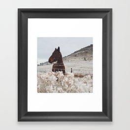 Snowy Horse Framed Art Print