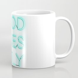 Neon Good Vibes - Teal Coffee Mug