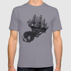 Release the Kraken SMALL Mens Fitted Tee Slate