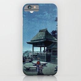 Tsuchiya Koitsu - Moon at Ishiyama Temple - Japanese Vintage Woodblock Painting iPhone Case