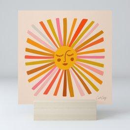 Sunshine – Retro Ochre Palette Mini Art Print