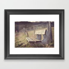 Sit Down a While Framed Art Print